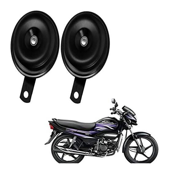 Rawat (BALKO) Primium Quality Bike Horn with 1 Year Replacemant Warranty (Set of 2) for Hero Super Splendor