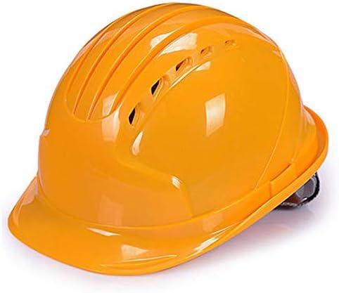 ヘッド保護 建設ヘルメット - キャップスタイルのハードハット調整可能なラチェット6 Ptサスペンションハード非換気ハット調節可能なヘルメットABSエンジニアリングヘルメ 作業安全装置 (色 : 青)
