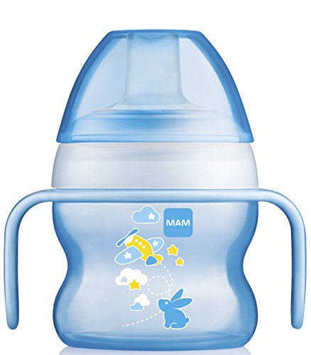 MAM Starter Cup, Sippy Cups for Toddlers with Handles, Boy, 5 Ounces, 1-Count