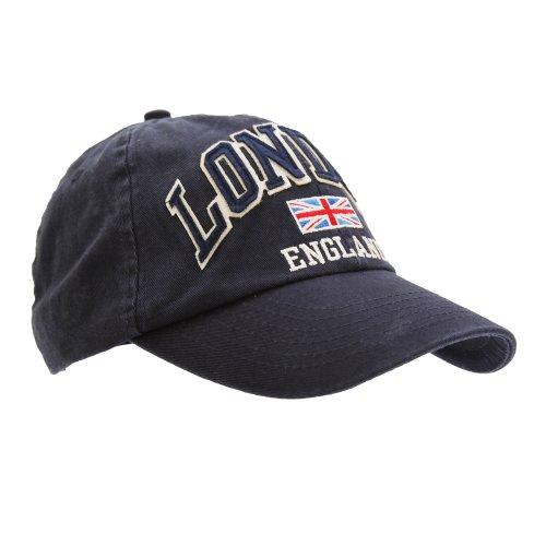 Mens London England Union Jack 3D Retro Design Baseball...