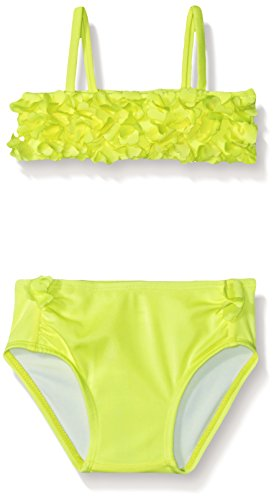 Crazy 8 Baby Baby Girl Floral Two-Piece Swimsuit, Neon Yellow, 12-18