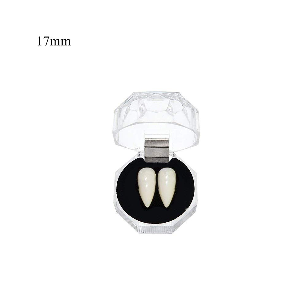 Morenitor Vampire Tooth, 1 Pairs Funny Horror Trick Toy Cosplay Prop Decoration Vampire Tooths Halloween Cosplay Party (13mm) L4437M017TL