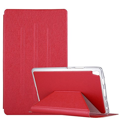 - Tablets Cases/Covers for Lenovo Tab3 8 Plus/TB-8703 Silk Texture Horizontal Flip Leather Case with Holder (Color : Red)