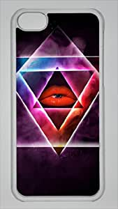 LZHCASE Personalized Protective Case for iPhone 5c - Cerf Hipster Illuminati Nebula Rainbow Space