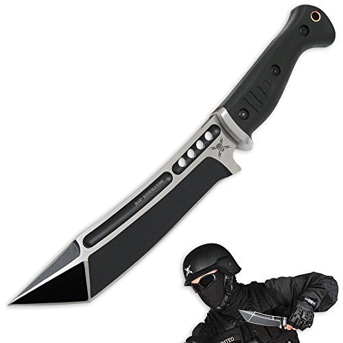 NEW-Black-M48-Sabatage-Fighter-TPR-With-Sheath-Self-Defense-Weapon-Ultimate-Survival-Tool-for-Zombie-Apocalypse-Survival-Kit-w-Free-5-in-1-Carabiner-Multitool-Credit-Card-Knife-Survival-Life