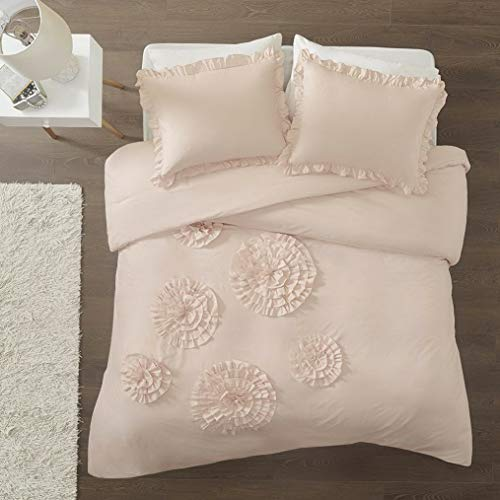 Kaputar Beautiful Soft Pink Ruffle Shabby Chic Cottage Girls Comforter Set Pillow New | Model CMFRTRSTS - 907 | Twin Extra Long