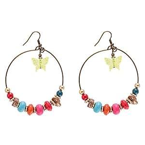 Flying Jewellery Hoop Earrings, French Closure - [ER4134F1DZPR]