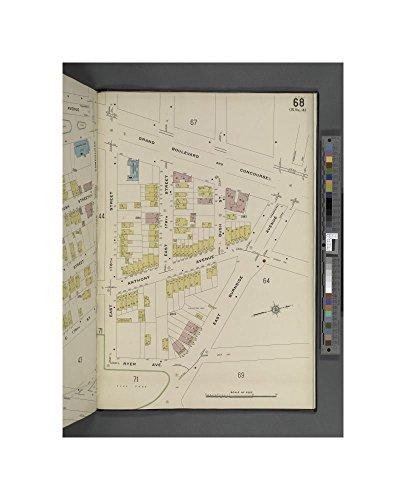 1884- map of New York Bronx, V. 15, Plate No. 68 Map bounded by Grand Blvd., E. Burnside Ave., Ryer Ave., E. 178th St Sanborn Map Company - Spy Burnside