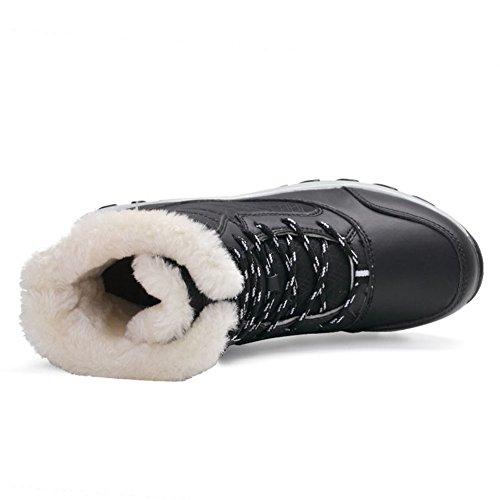 Damen Mode Winterstiefel Warm Gezeichnet Winter Kampf Stiefel Bequem Schlupfstiefel Freizeitschuhe Schwarz