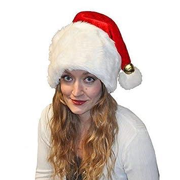 Lively Moments Mullido Gorro de Navidad con una Amplia Borde y ...