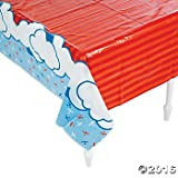 "Plastic Up & Away Airplane Tablecover - 54"" x 108"""