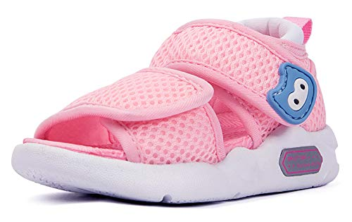 Infant Baby Girls Boys Sandals 6 9 12 18 24 Months Toddler Summer Water Beach Shoes Non-Slip Size 3 4 5 6 7 Pink ()