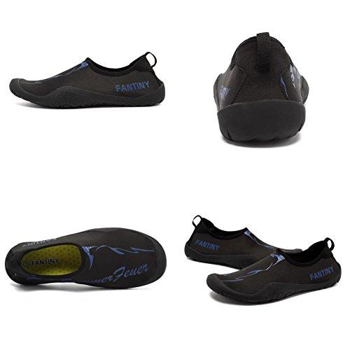 Cior Women Womens Barefoot Quick-dry Sport Acquatici Aqua Shoes Con 14 Fori Di Drenaggio Per Nuotare, Camminare, Yoga, Lago, Spiaggia, Giardino, Parco, Guidare A4n.black
