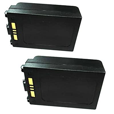 2 Batteries #BTRY-MC7XEABOO/82-71364-05(Lilon3.7v3800mAh-Cells of Made in Sanyo Japan-battery packs assemble in Taiwanbattery quality guarantee for 2 yearsbattery life for over 5 years)for SYMBOL MC75 Barcode Scanners Printers.