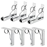 Qrooper Tablecloth Clips Stainless Steel Table Cover Clamps Table Cloth Holders for Outdoor and Indoor Uses, 8 Count (Suitable for Table Thickness of 2 1/2'' or Less)