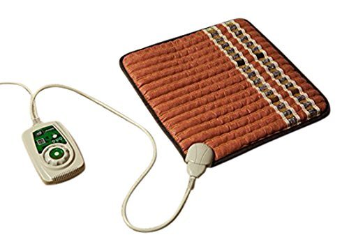 HealthyLine Infrared Heating Pad (Soft)|Natural Amethyst, Jade, Obsidian & Tourmaline Ceramic (Small) 18″ x 18″ |Relieve Pain, Sore Muscles, Arthritis and Injury Recovery|US FDA by HealthyLine
