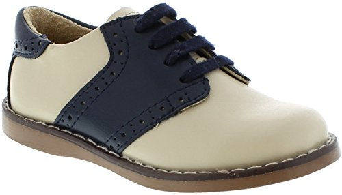 FootMates Boy's Connor 2 (Toddler/Little Kid) Ecru/Royal Oxford 11 Little Kid M/W