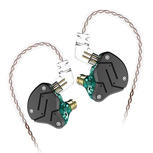 KZ ZSN Earphone 1BA 1DD, KZ High Fidelity in Ear Earbuds High Resolution in Ear Monitor Headphone 0.75mm 2 pin Cable, Noise Cancelling KZ Headphone (Cyan, NO Mic)