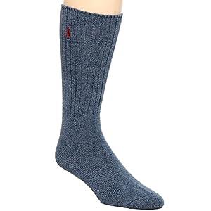 Polo Ralph Lauren Men's Classic Crew Socks with Pony Logo (Dark Denim)
