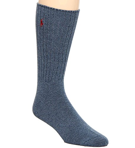 Polo Ralph Lauren Men's Classic Crew Socks with Pony Logo (Dark Denim)
