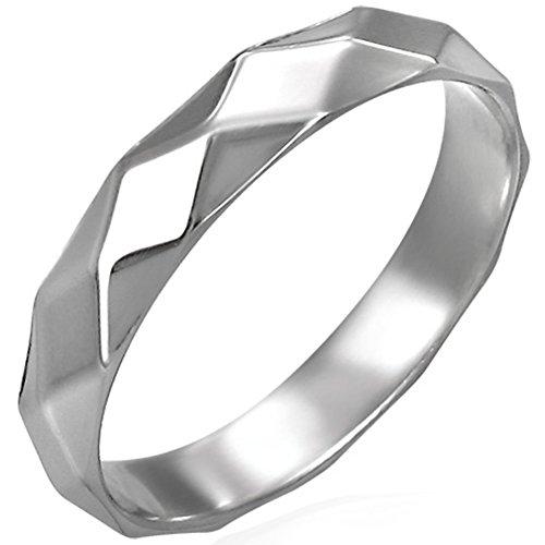 Zense-Bague-homme-en-acier-inoxydable-tendance-et-moderne-Zense-ZR0059-multi-facettes
