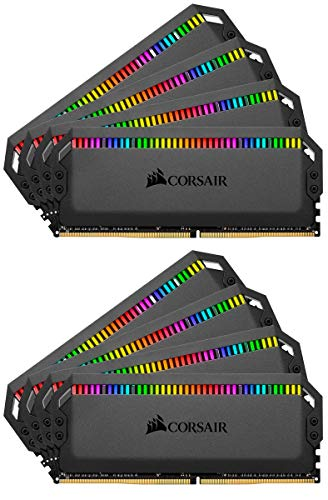 - Corsair Dominator Platinum RGB 128GB (8x16GB) DDR4 3200 (PC4-25600) C16 1.35V Desktop Memory - Black