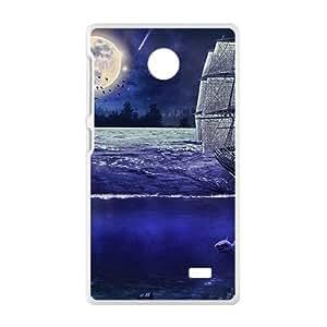 Bright Moon And Ship White Phone Case for Nokia Lumia X