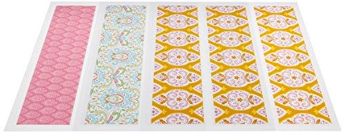- Lucks Designer Prints, Dena Exotic Garden Variety, 2-1/4 X 10 Inch, 36 Count