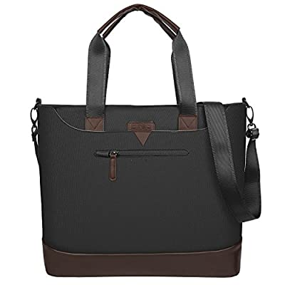 Ladies Laptop Tote Bag,DTBG Stylish Large Womens Business Laptop Shoulder Bag Work Tote Purse Office Messenger Briefcase Travel Shopping Handbag with Strap for Up to 15.6 Inch Laptop Computer