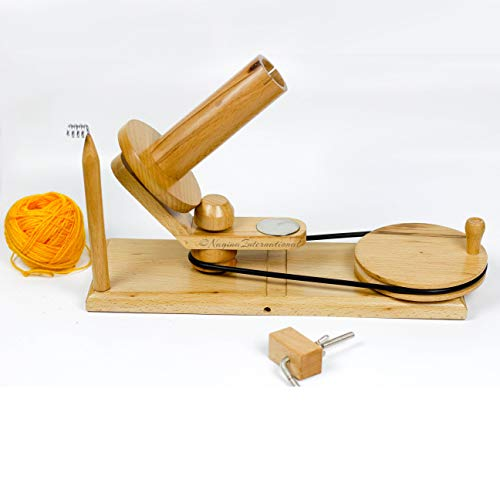 Hand Operated Premium Crafted Knitting & Crochet Ball Winder | Knitter's Gifts Center Pull Ball Winder | Nagina International by Nagina International (Image #2)