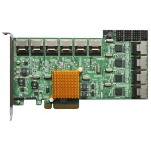HighPoint Rocket 750 40-Channel SATA 6Gb/s PCI-Express 2.0 x8 HBA - 10 SFF-8087 6Gb/s SAS Mini-SAS - PCI Express 2.0 x8 - R750