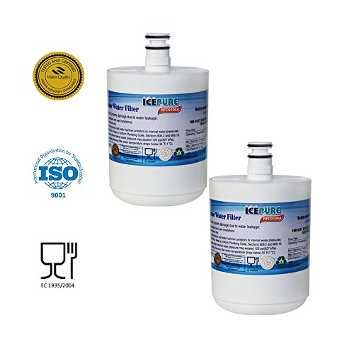 IcePure Refrigerator Water Filter Replacement (2PACK) Compatible with LG LT500P, 5231JA2002, KENMORE 46-9890, SGF-LA22,WF-290, WSL-1, ADQ72910901, ADQ72910902 and more