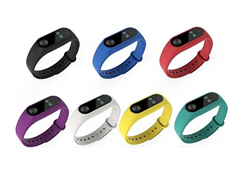 Dingtool For Silicone Xiaomi Mi Band 2 Bands, Colorful Replacement Strap Wristband Accessories for Xiaomi Mi Band 2 Smart Bracelet(Not for Xiao Mi Band 1S)