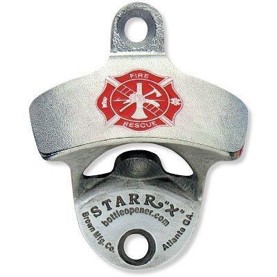Fireman's Cross U.S.A. MADE Zinc Aluminum Starr X Wall Mount Bottle Opener NEW!