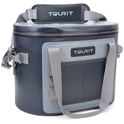TOURIT Soft Cooler 30 Cans Leak-Proof Soft Pack Cooler Bag Waterproof Insulated Soft Sided Cooler for Hiking, Camping, Sports, Picnics, Sea Fishing, Road Beach Trip