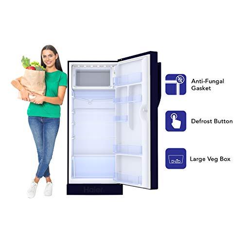 Haier 195 L 3 Star Direct-Cool Single Door Refrigerator (HRD-1953CPMF-E, Marine Freesia)