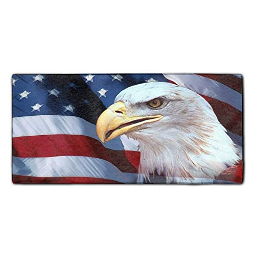 American Eagle Flag Printed Microfiber Cleaning Cloth/Guest Hand Towel for Drawing Room and car 11.8 X 27.5 inch