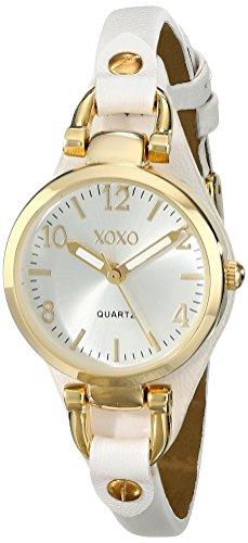 Xoxo women 39 s xo3398 analog display analog quartz white watch mypointsaver for Watches xoxo