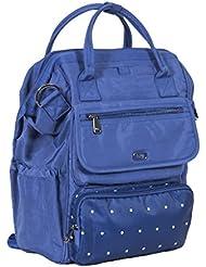 Lug Womens via Tote Backpack, Dot Cobalt, One Size