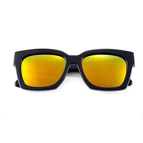 Sunglasses Lens Moolo Ladies Hombre Blue para Ice UV400 Wayfarer de Naranja Protective Color Unisex Gafas HLMMM Sol Black Estilo Shades RXSqxAS0w