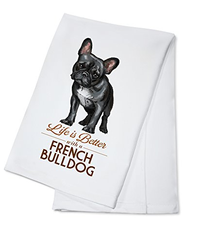 french bulldog kitchen towel - 3