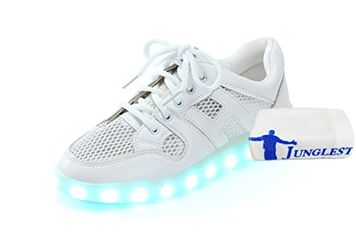 (+Small towel)Summer network models Colorful LED USB charging shoes breathable shoes luminous fluorescent shoes couple models men and c1 uy9HL8cuu
