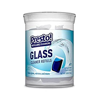 Presto! by Amazon: Glass Cleaner Refills Ammonia-free, 6-pack (makes 6 bottles of Presto! cleaner), Refill, reuse, reduce