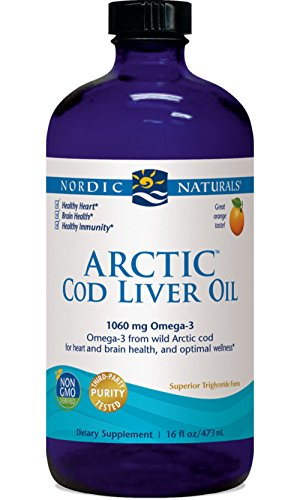 Nordic Naturals, Arctic Cod Liver Oil, Orange, 1060 mg Omega-3, 16 fl oz (473 ml)