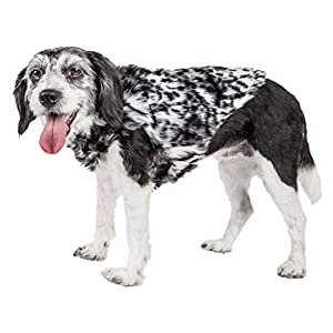 Pet Life ® Luxe 'Paw Dropping' Designer Gray-Scale Tiger Pattern Mink Fur Dog Coat Jacket, Large, Black Click on image for further info.