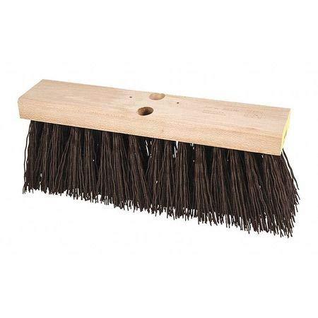 16' Street Broom - Street Broom, Brown, Plastic, 16'