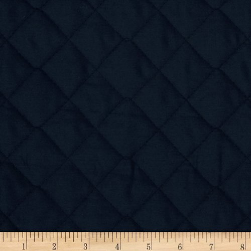 (Fabri-Quilt Double Sided Quilted Broadcloth Navy Fabric by The Yard,)