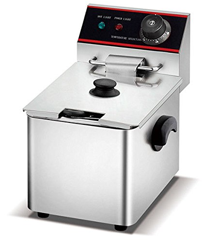 Electric Single Tank - WYZworks 2500w 6L Stainless Steel Electric Countertop Deep Fryer Single Tank Commercial Restaurant Grade …
