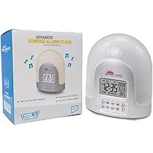 High Tech Sunrise Alarm Clock - Dawn Simulator - Set Gradual Wake Up Light Alarm Up To 60 Mins - Nature Sounds Alarm Clock