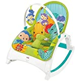 Fisher-Price DMR88 Rainforest Friends Infant-to-Toddler Rocker, New-Born Baby Bouncer and Can be Used as a Baby Chair, Suitable from Birth